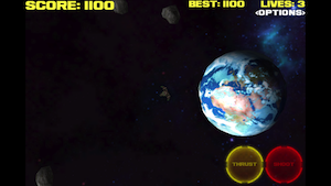 Asteroid Storm! by Psychic Software screenshot