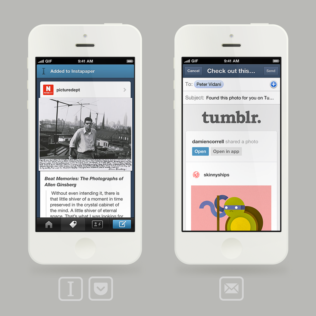 For iOS Gains New Sharing Feature, Read-Later Integration And More