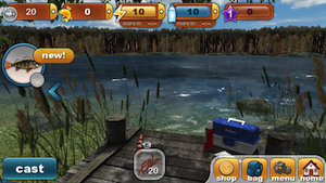 Quirky app of the day catch some big game in fishing for Best fishing game app