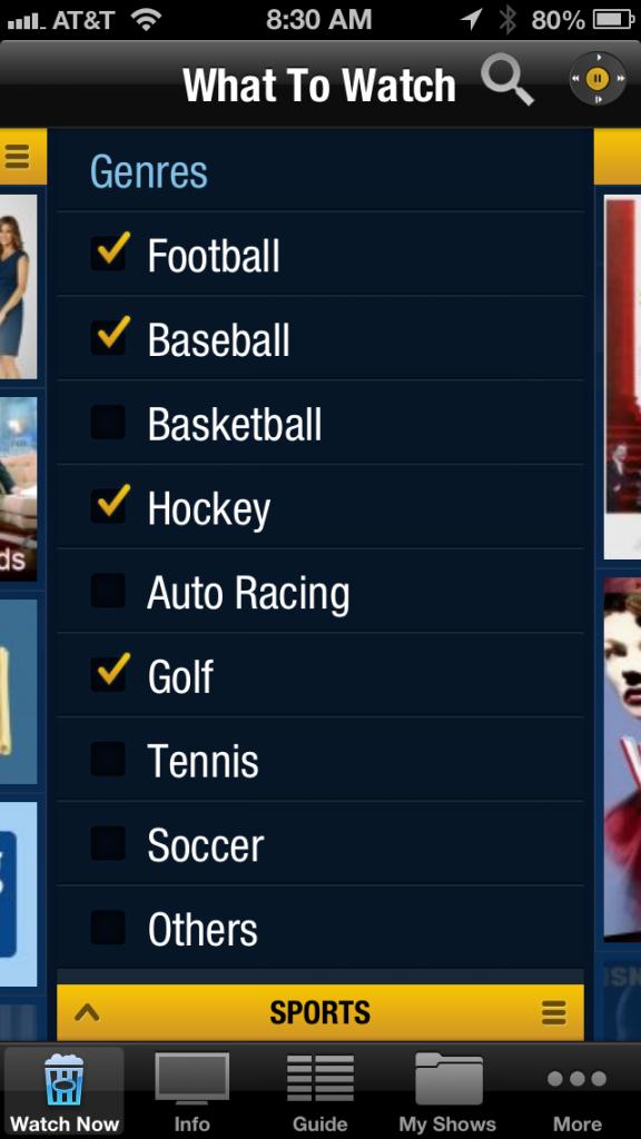 Sports choices