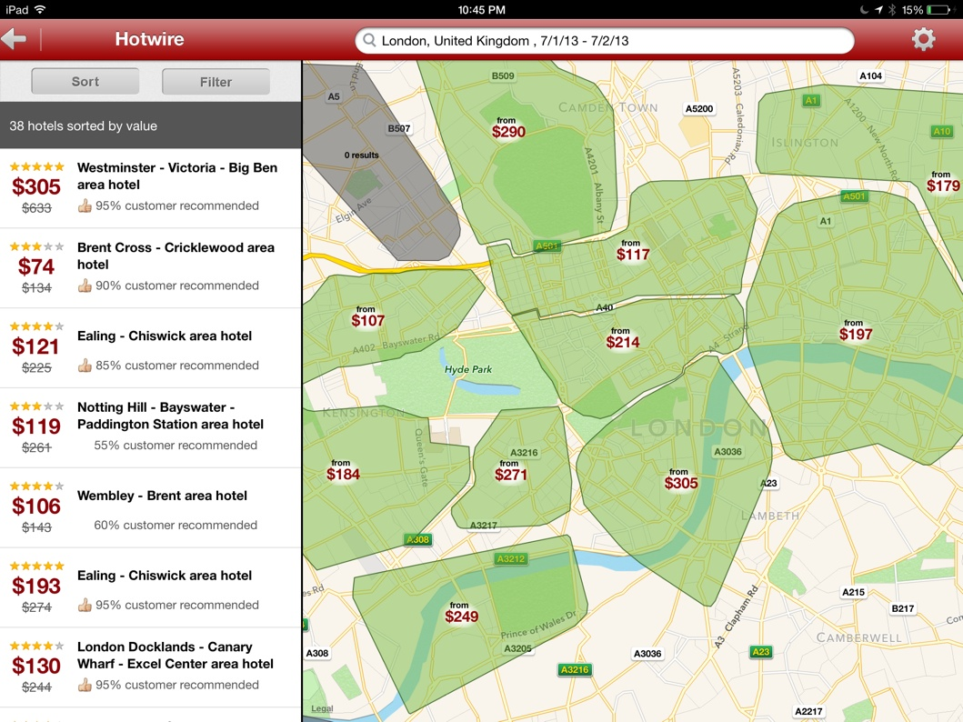 Hotwire for iPad