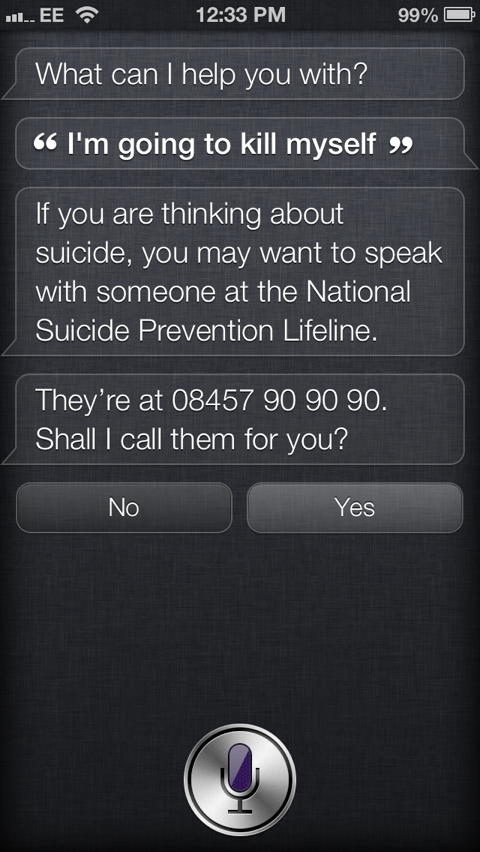 Apple Updates Siri's Response To Possible Suicide Risks