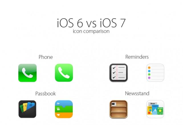 iOS 7 vs iOS 6 - Podívejte se jak se změnily ikony a celé prostředí