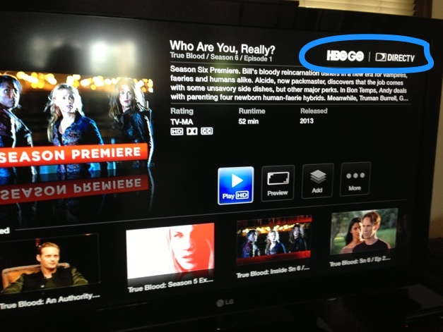 HBO GO on Apple TV for DirecTV subscribers