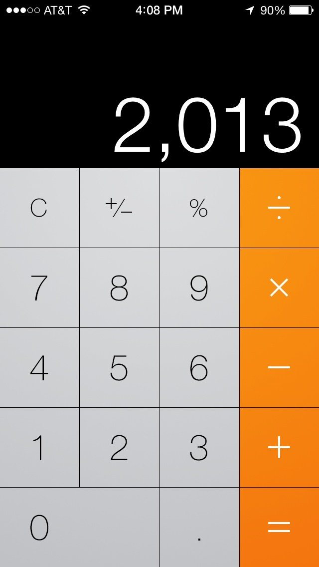 Calculator in iOS 7