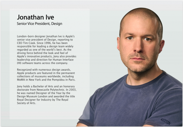 Jony Ive's Title At Apple 'Flattened' Following Launch Of iOS 7′s 'Flat' Redesign
