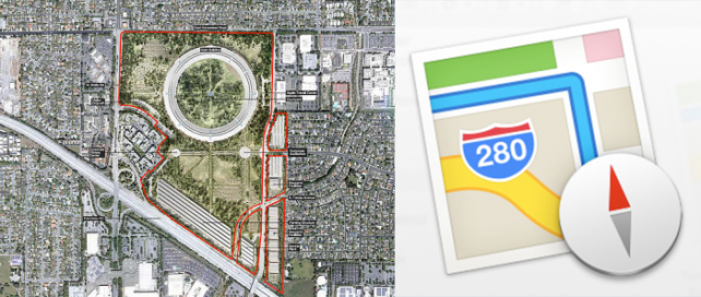 Apple's All-New Maps Icon Is Relocated To Campus 2