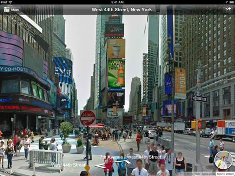 Streets on iPad