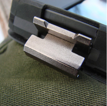 "Closing the two latches activates the ""waterproof"" seal."
