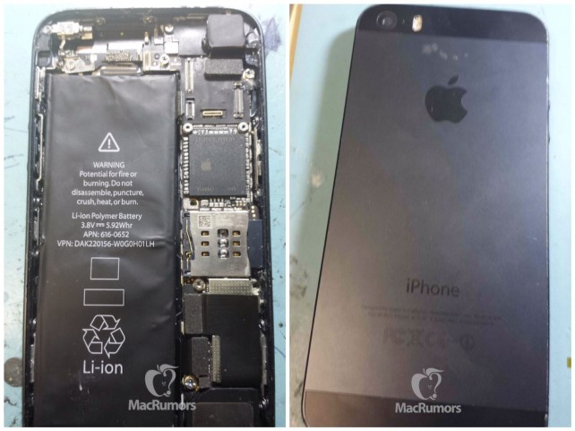 iPhone 5S purported internals, MacRumors