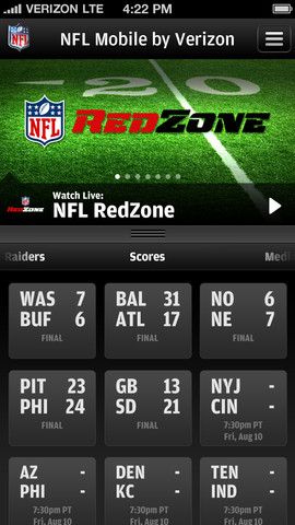 NFL Mobile on iPhone