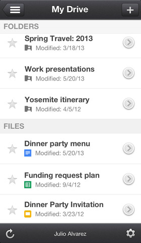 Google Drive on iPhone