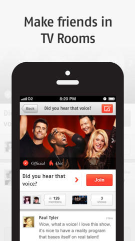 Zeebox on iPhone
