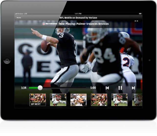 verizon nfl mobile app nfl game to night