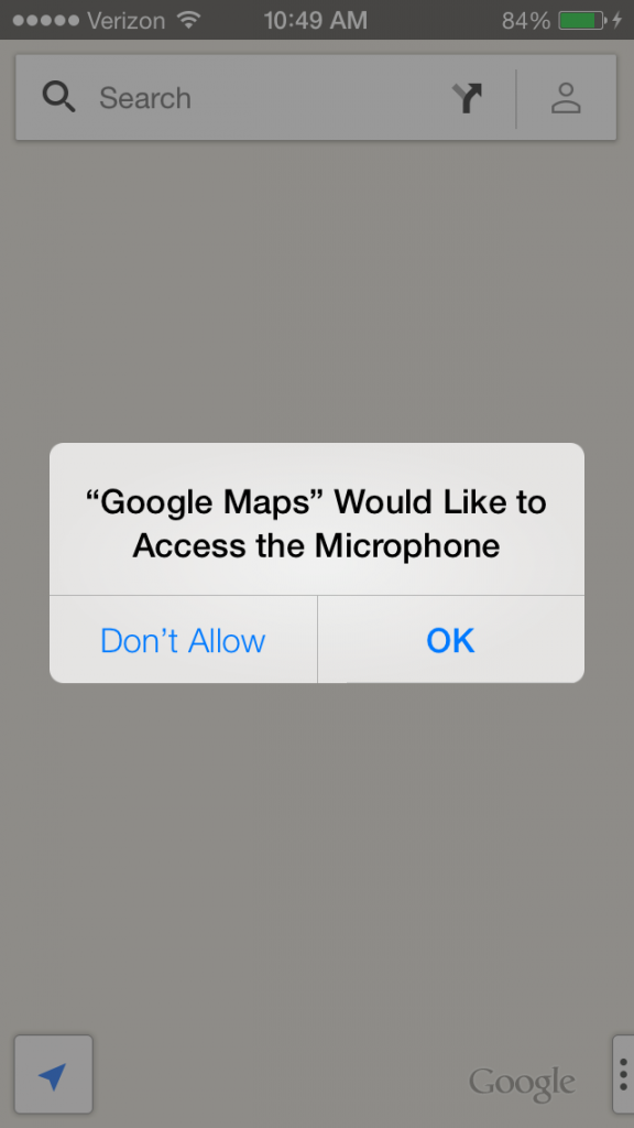 Apps In iOS 7 Want To Make Sure It's Okay To Access … Your Microphone?