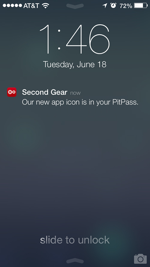 The PitPass automatically notifies users when it is updated.