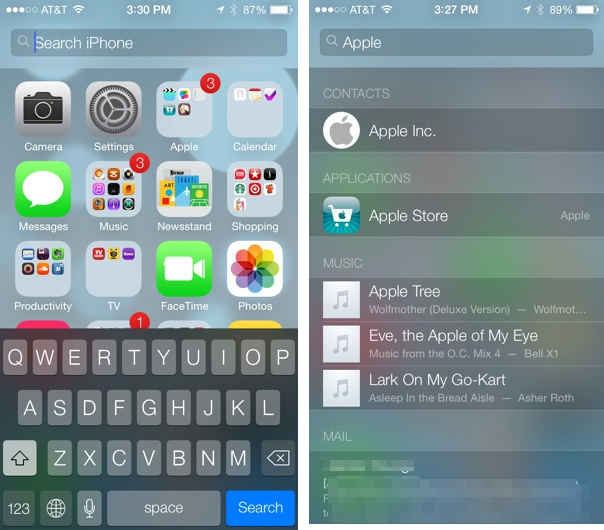Spotlight Search In iOS 7