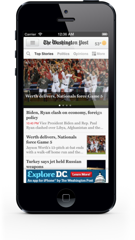 Wash Post for iPhone