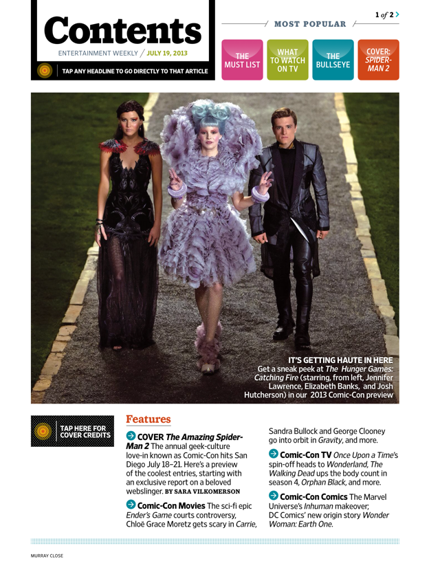 Entertainment Weekly for iPad