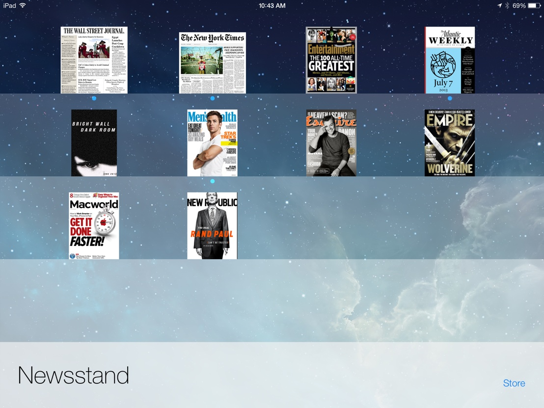 Newsstand in iOS 7