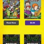 Plants vs Zombies Comics for iPhone 2