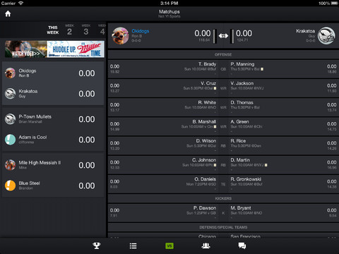 Yahoo Fantasy Sports - Football for iPad
