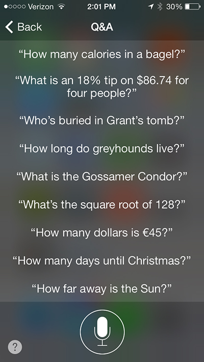 Siri can help answer these types of questions.