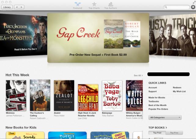 iBooks on OS X Mavericks
