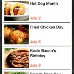 Food.com Every Day is a Food Holiday for iPhone 4