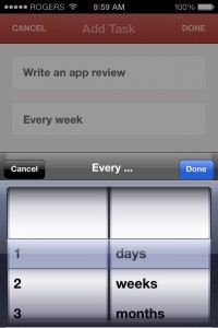 Radar: track things you do often by Tom Germeau screenshot