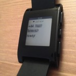 Pebble's text message notification.
