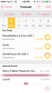 OmniFocus 2 for iPhone by The Omni Group screenshot