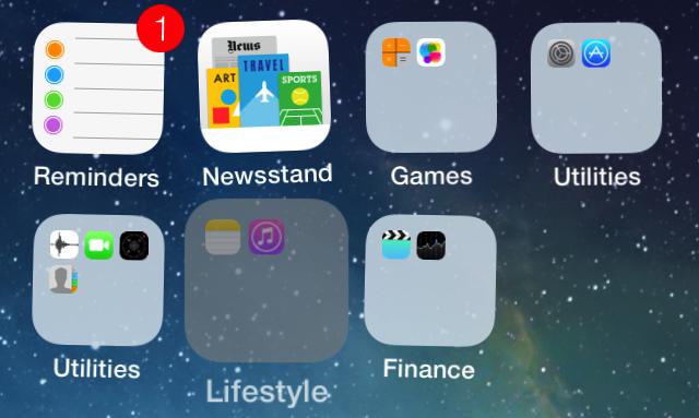 how to create folders on iphone 7