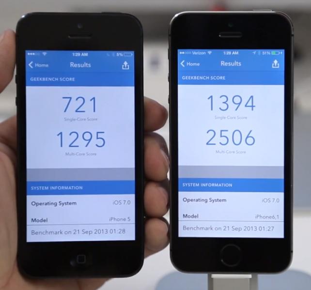 iPhone 5S - Testy výkonu a porovnání s konkurencí (Videa)