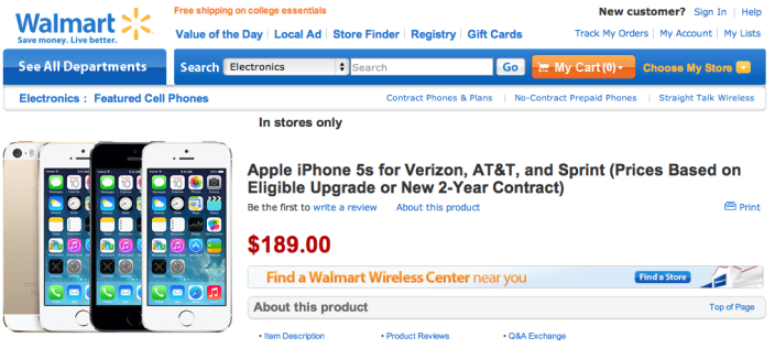 Walmart offering discounts on new iPhones