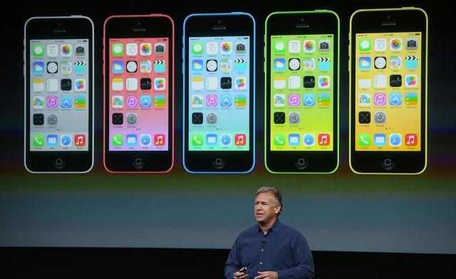 Apple's Phil Schiller announces the iPhone 5c