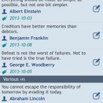 Quotes Folder for iPhone 3