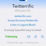 Twitterrific for Twitter 4