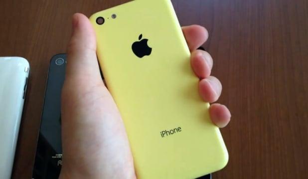 The yellow iPhone 5c