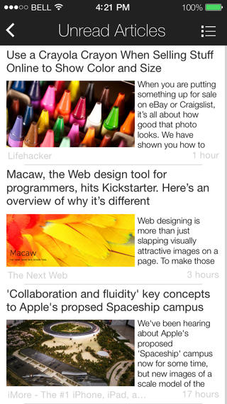 My Paper Is A Free Yet Full-Featured Feed Reader App Designed For iOS 7