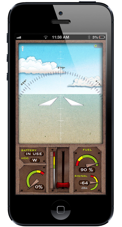 With the app, users can steer their plane, control throttle, and make the aircraft go up and down.