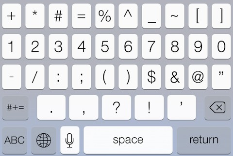 how to add trademark symbol on iphone