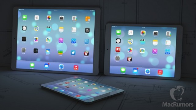 Apple said to start building bigger iPads in early 2015