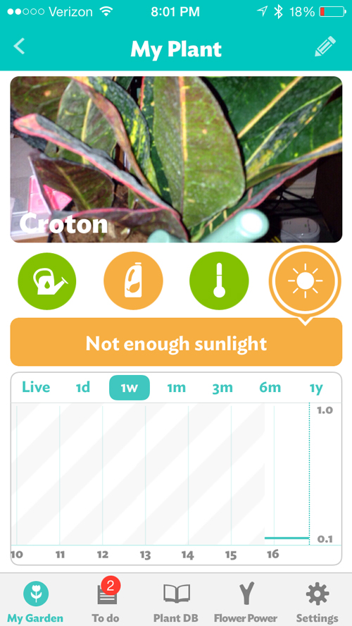 The app will let you know exactly what your plant needs.