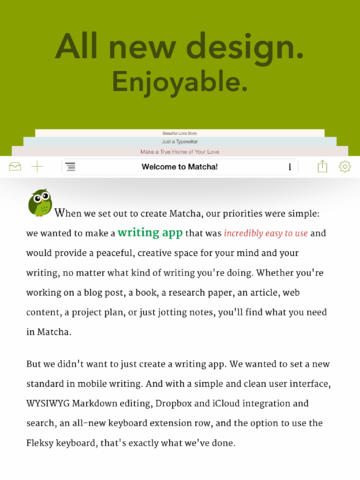 Wisdom Writer Goes 2.0 And Rebrands As Matcha With New Design And New Features