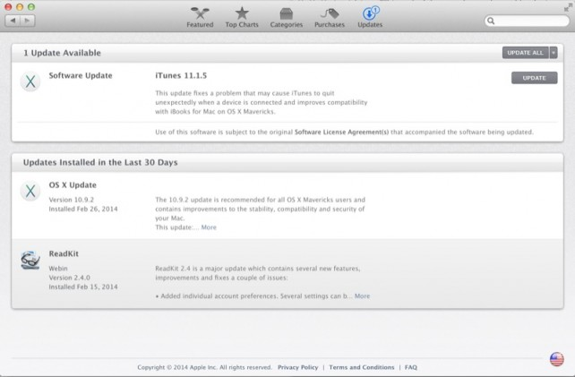 Apple Releases iTunes 11.1.5 For OS X: Fixes A Crashing Bug, Improves iBooks