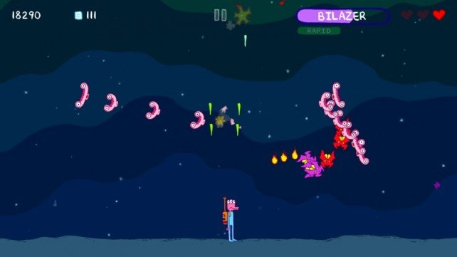 Glorkian Warrior Is A Fantastic Mashup Of Galaga, Platformer, And Saturday Morning Cartoons