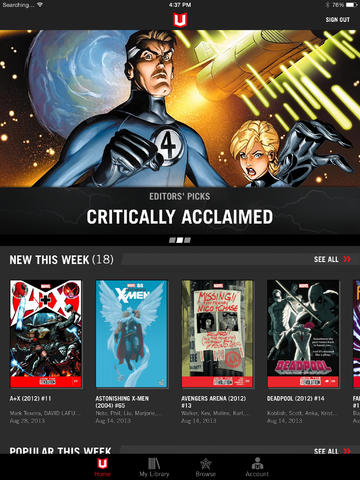 Marvel Unlimited Update Introduces Native Marvel Comics Reading Experience