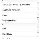 MealPlan for iPhone 4
