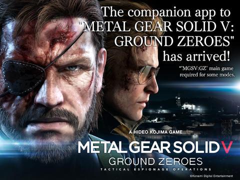 Konami Releases iOS Companion App Of Metal Gear Solid V: Ground Zeroes